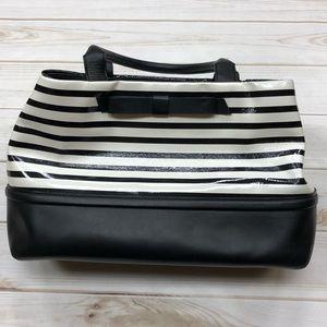 KATE ♠️ SPADE Black White Striped Bow Purse
